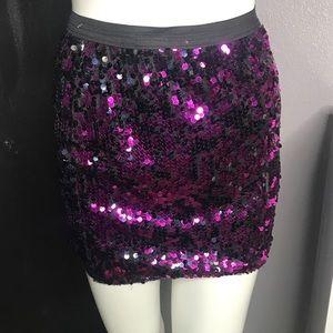 Dresses & Skirts - Purple Sequin Skirt